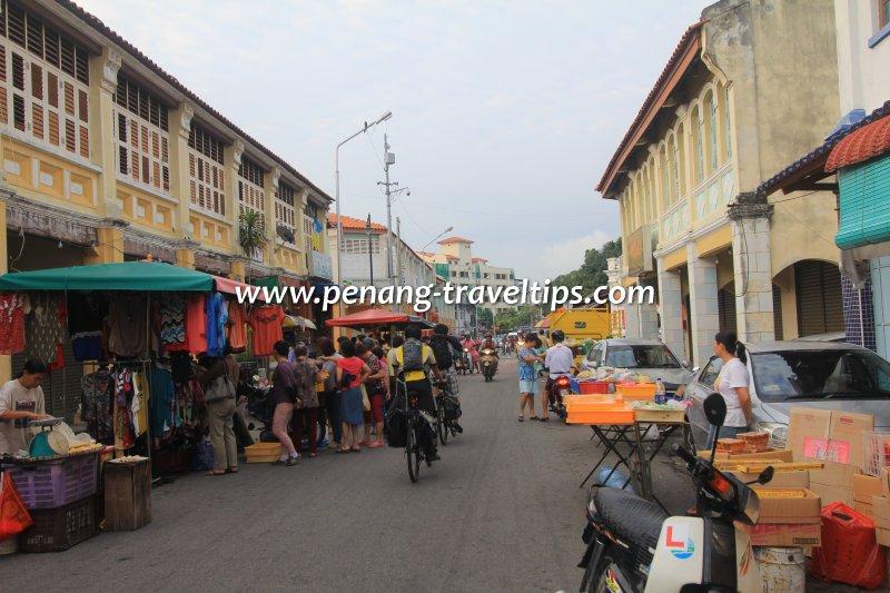Market stalls along Carnarvon Street