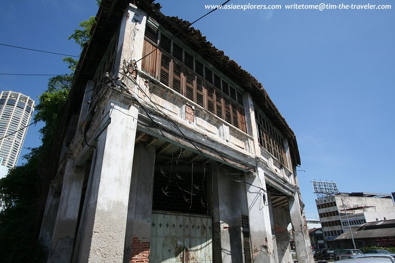 Dilapidated shophouses along Maxwell Road