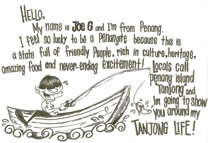 Joe G, a cartoon character created by ME