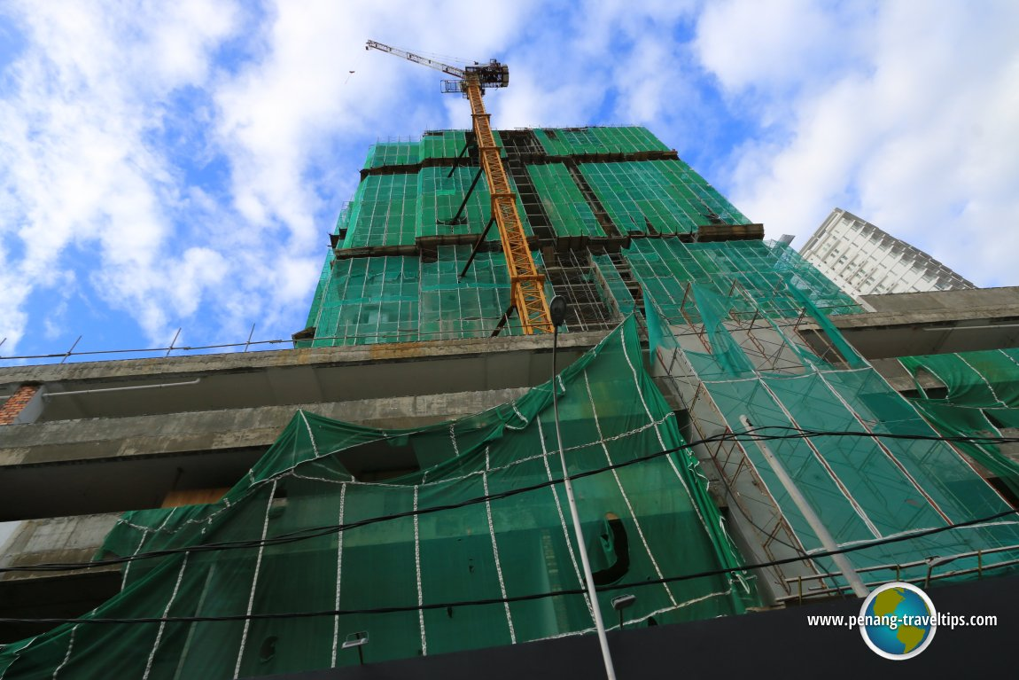 Moulmein Rise under construction
