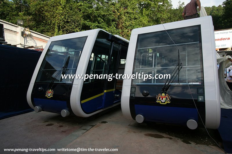 The new coaches of the Penang Hill Railway