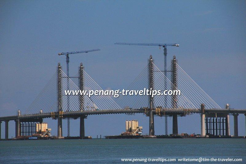 New main span of the Second Penang Bridge