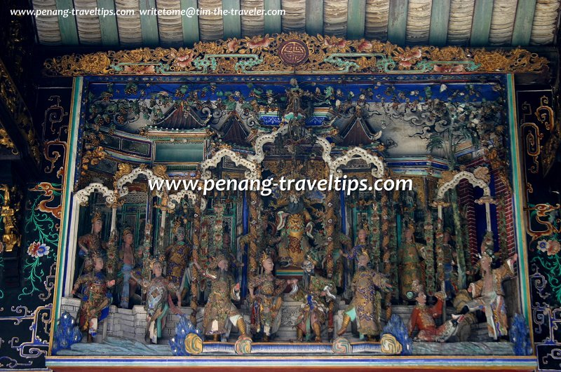Ornamental figurines, Chung Keng Kwee Ancestral Temple