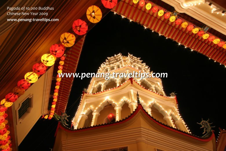 Another view of the Pagoda of 10000 Buddhas in 2009