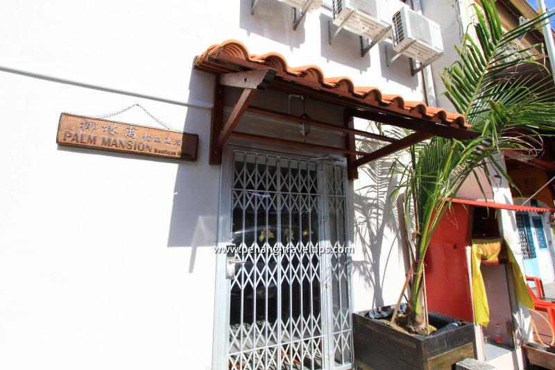 Entrance to Palm Mansion Boutique Suites