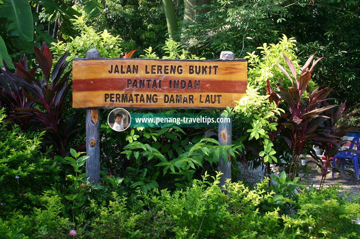 Pantai Indah signboard, Permatang Damar Laut