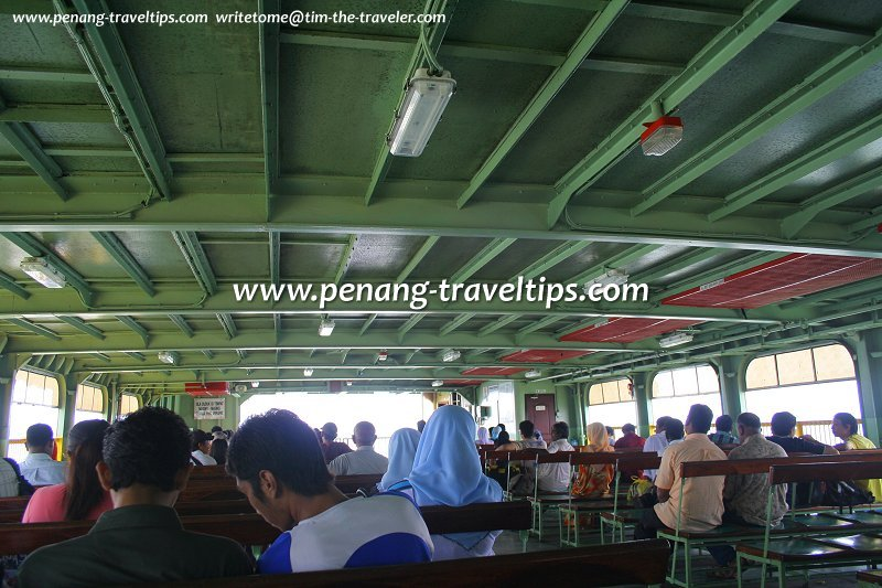 Passenger deck, Penang Ferry