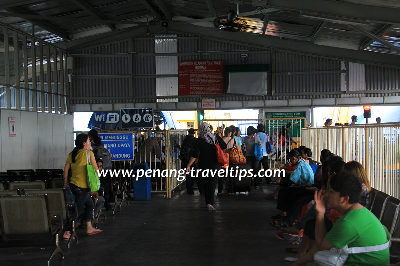 Passengers waiting to board the Penang Ferry