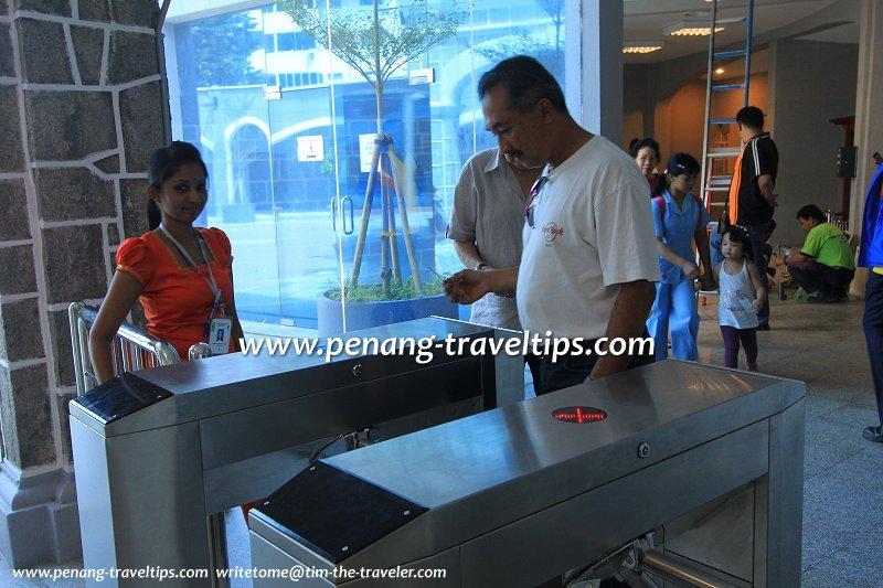 Penang Hill Funicular Train turnstile
