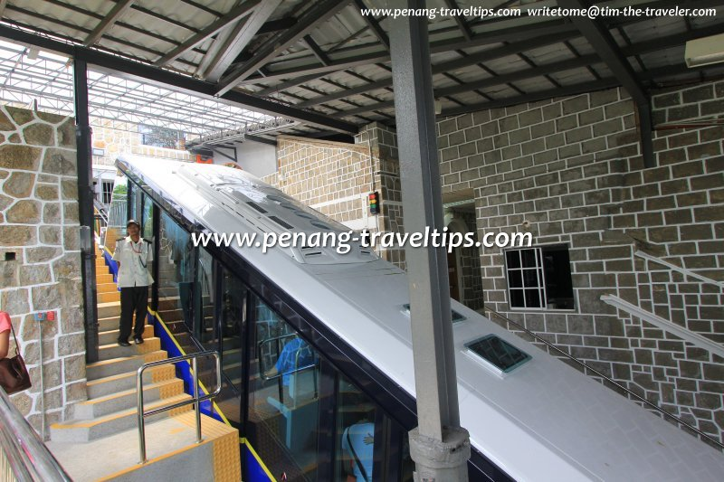 The new Penang Hill Funicular Train