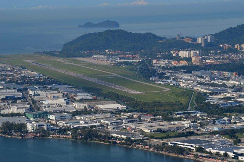 Aerial view of Penang International Airport