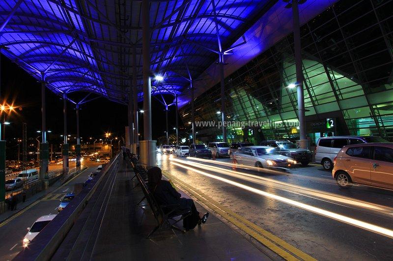Penang International Airport at dusk