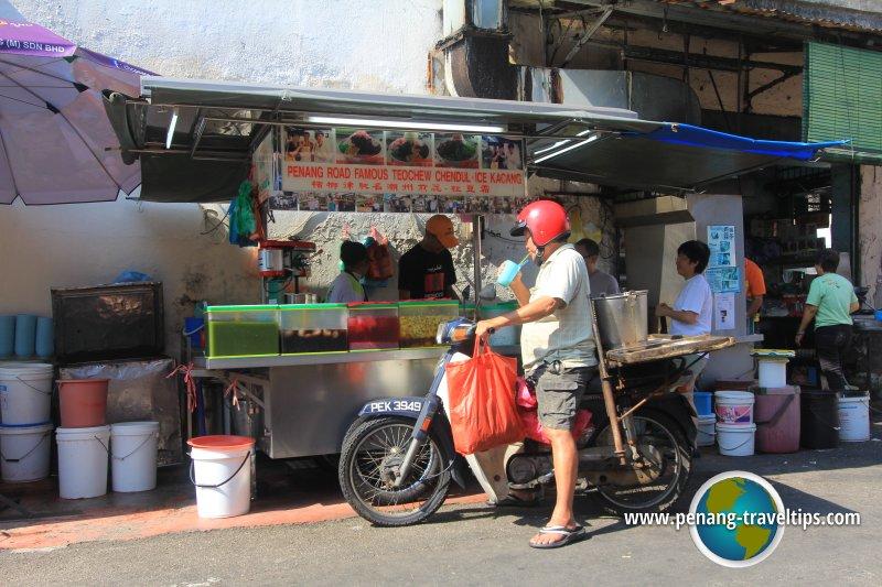 Penang Road famous Teochew chendul stall