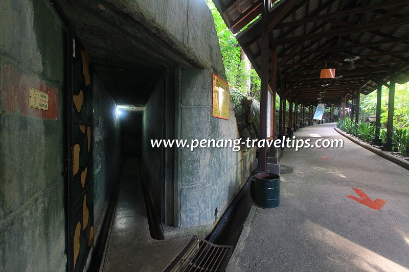 Penang War Museum tunnel entrance
