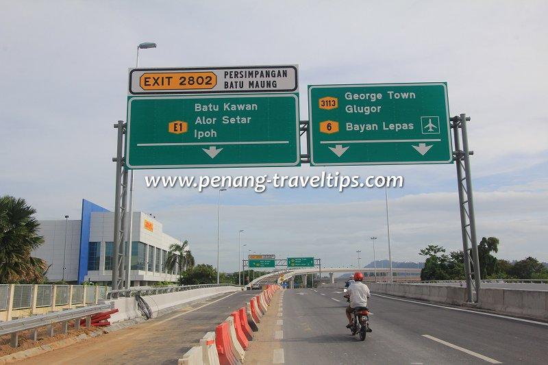 Persimpangan Batu Maung, Second Penang Bridge