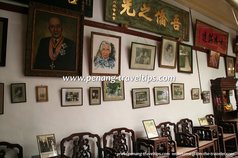 Photos on the wall, Tun Tan Cheng Lock's house