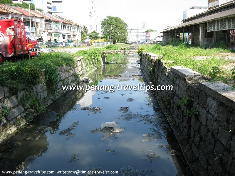 The stagnant Prangin Canal, George Town