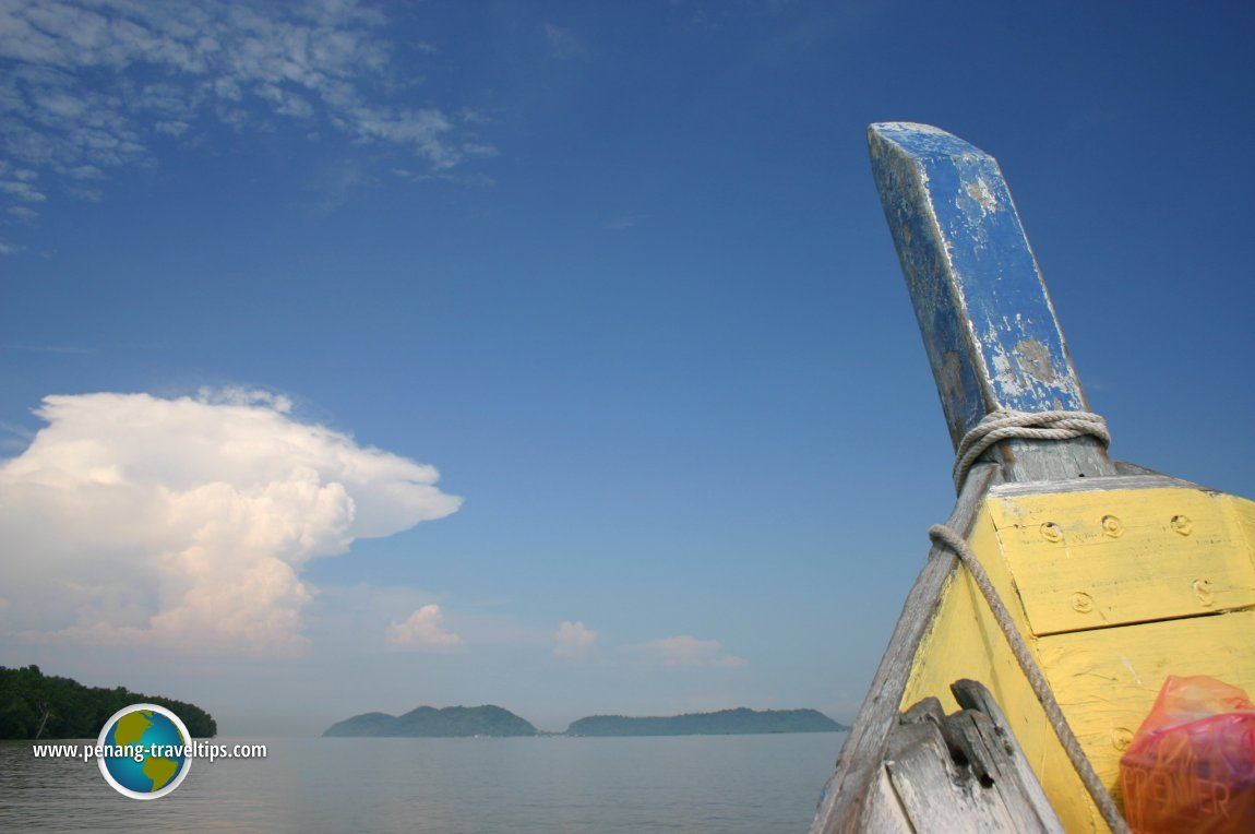 Boat approaching Pulau Aman