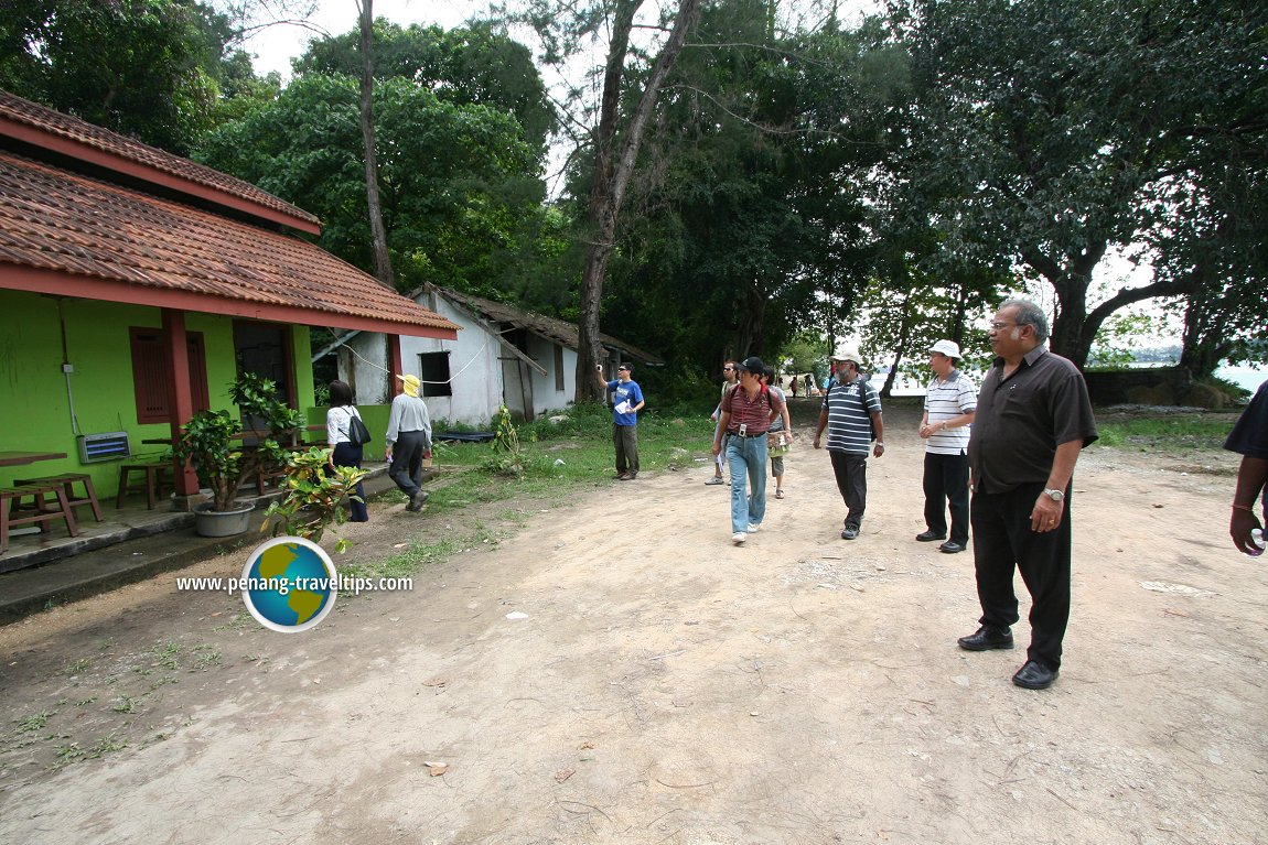 Exploring the abandoned servant quarters of the prison in Pulau Jerejak, with Penang Deputy Chief Minister