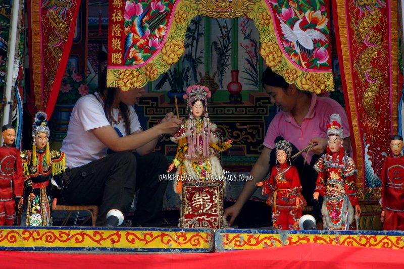 Puppet play at Ngor Teik Keong Temple