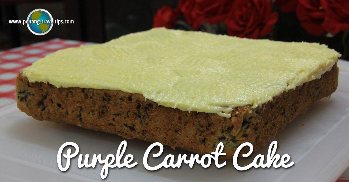 Our homemade Purple Carrot Cake