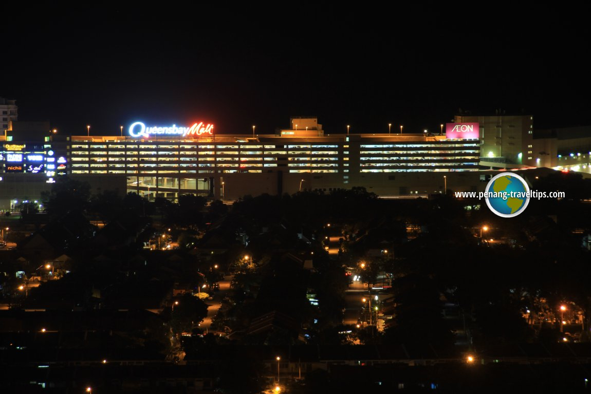 Queensbay Mall at night