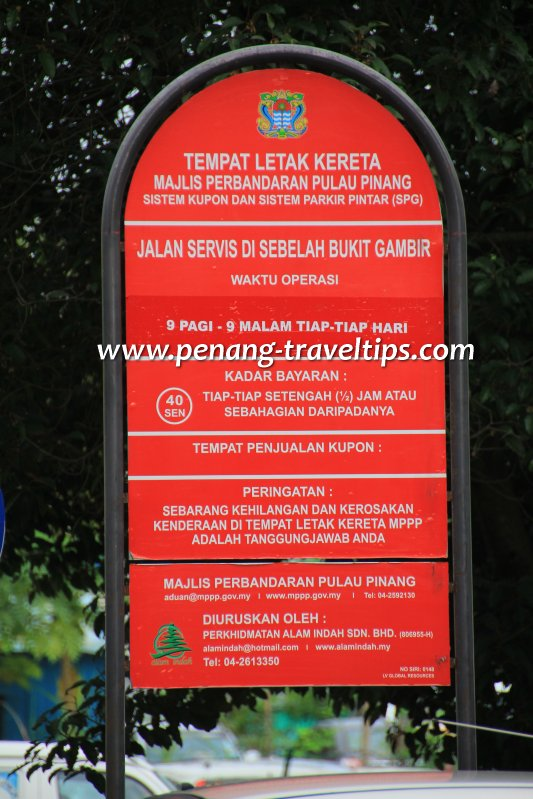 Red Parking Notice Board