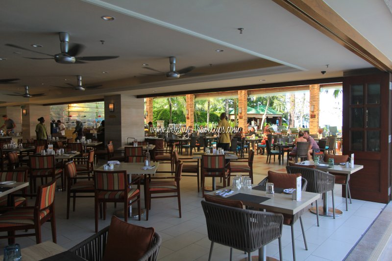 The restaurant at Holiday Inn Penang