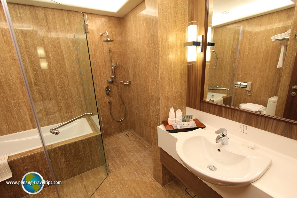 The bathroom in the Deluxe Room of The Wembley Penang
