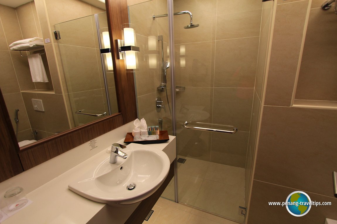 The bathroom in the Superior Room of The Wembley Penang