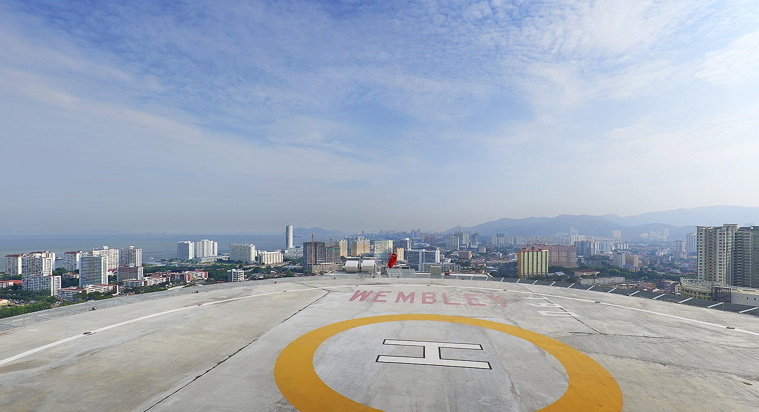 View from the The Wembley Penang helipad