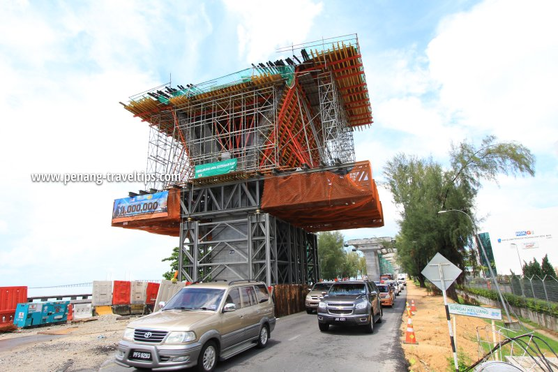 Sungai Keluang Bridge under construction