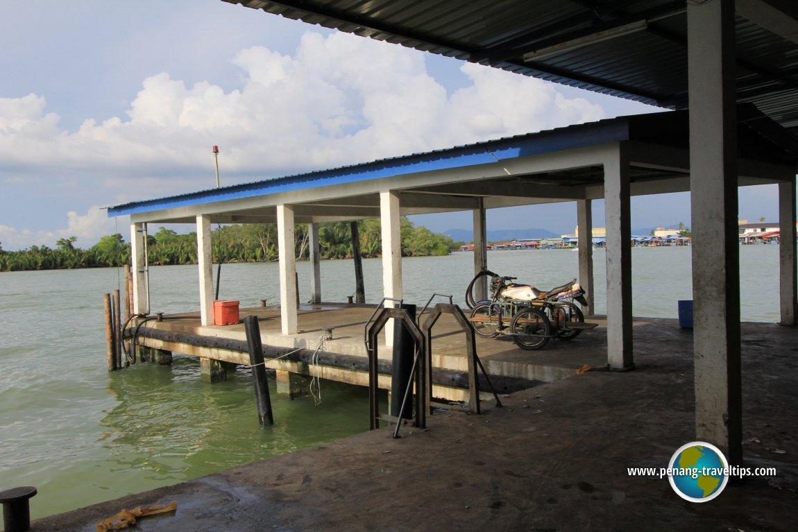 Fishermen pier at Sungai Udang