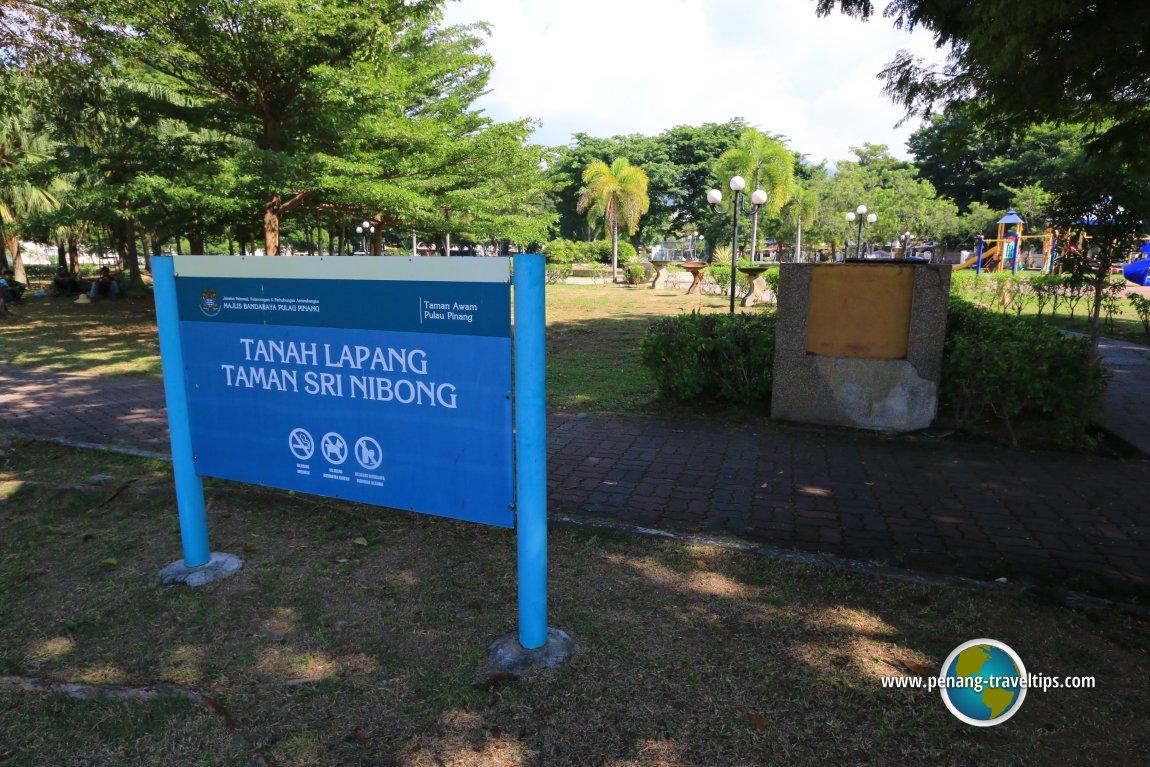 Taman Sri Nibong Landscaped Recreational Park Cat Emas Pinang Padi Lapang Signage