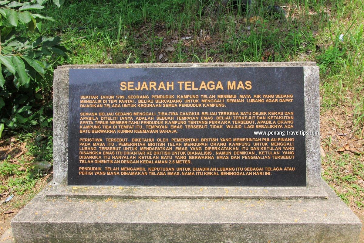 Telaga Mas interpretive board