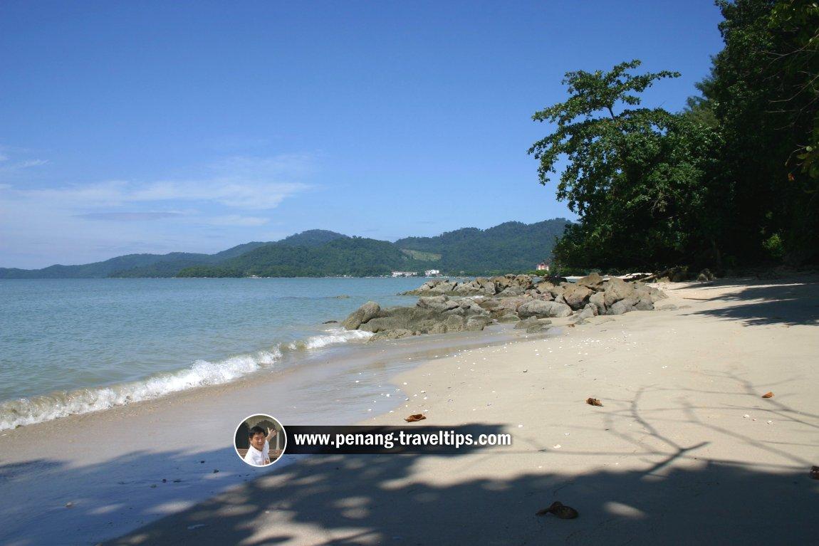 The beach at Sungai Batu