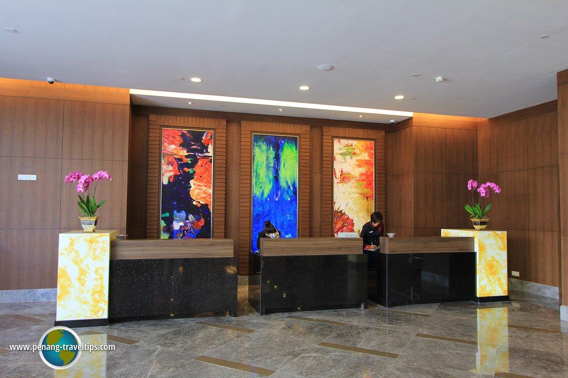 The reception desk at The Wembley Penang