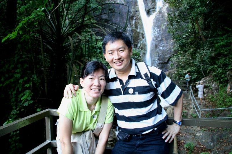 Tim & Chooi Yoke at the Botanic Gardens Waterfall