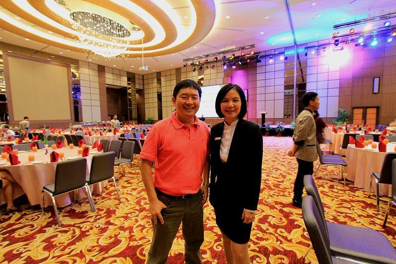 Timothy Tye and The Wembley Penang's Communications Manager, Karen Chee