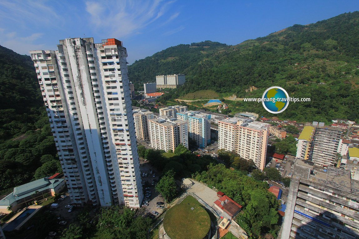 Towering apartments in Paya Terubong