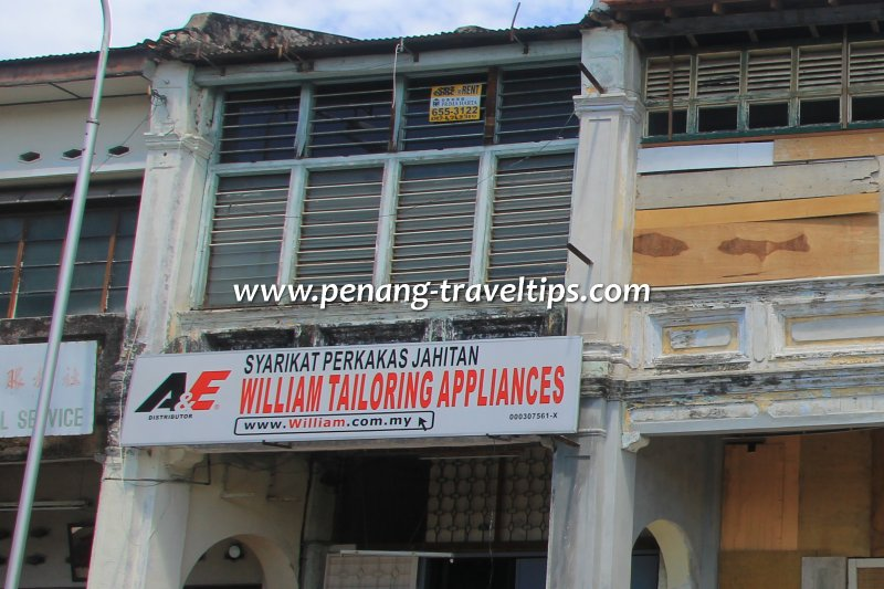 William Tailoring Appliances, Penang