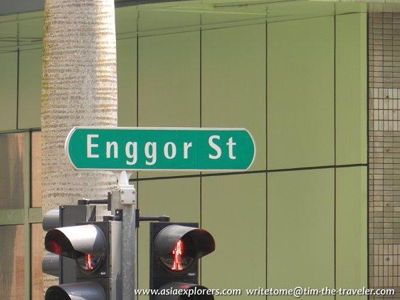 Enggor Street signboard