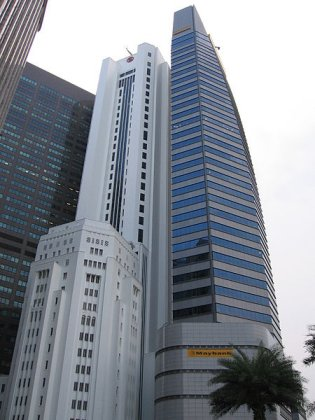 Maybank Tower, located to the right of the Bank of China Building