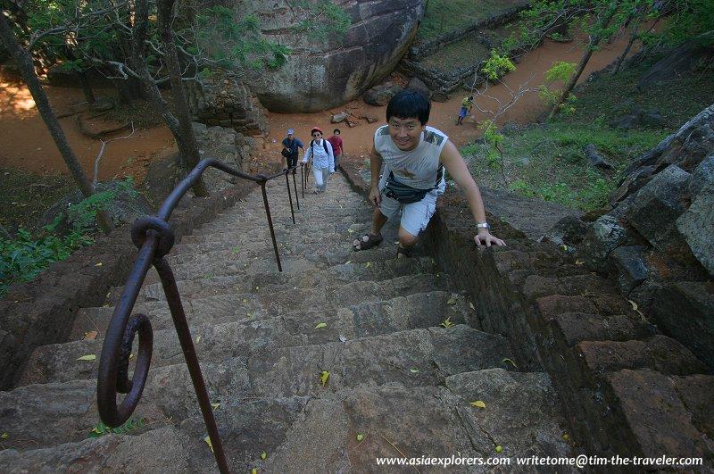 Stone staircase, Sigiriya