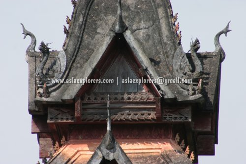 Roof structure at Wat Si Saket