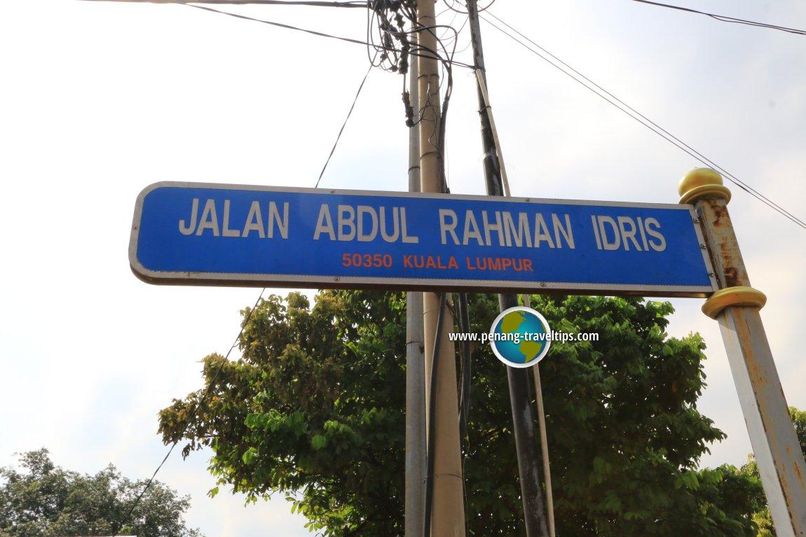 Jalan Abdul Rahman Idris road sign