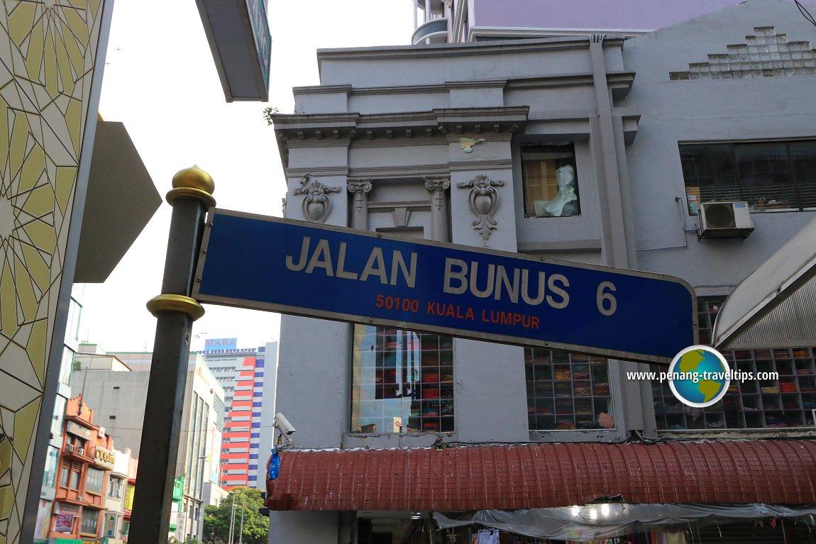 Jalan Bunus 6 road sign