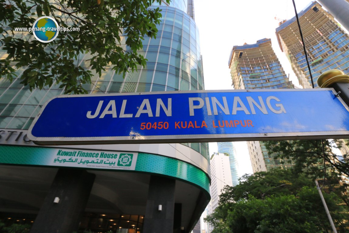 Jalan Pinang road sign