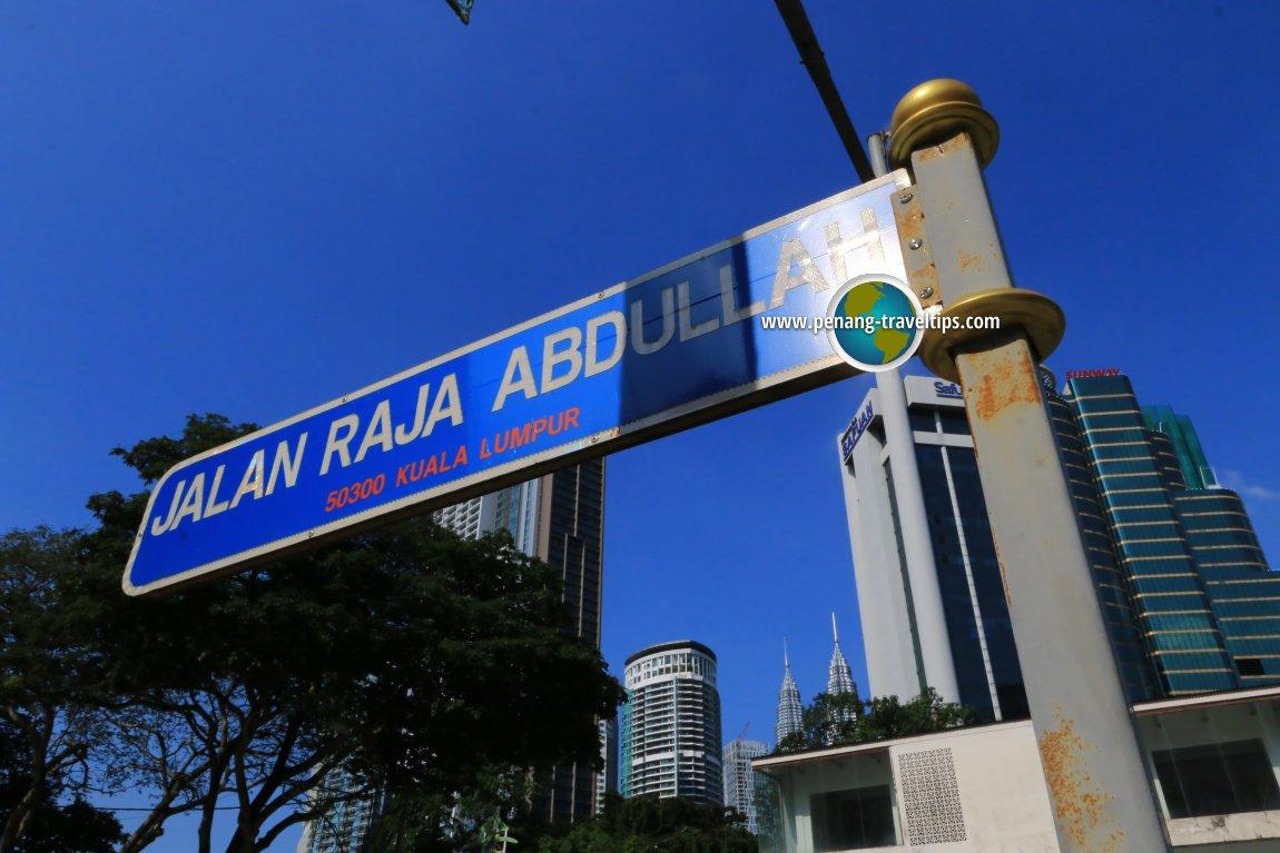 Jalan Raja Abdullah road sign