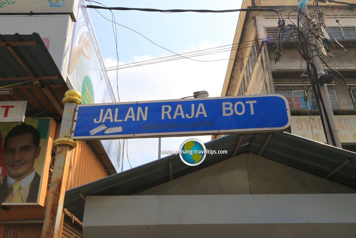 Jalan Raja Bot road sign